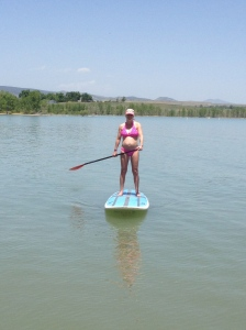"Me and baby girl ""paddling"""